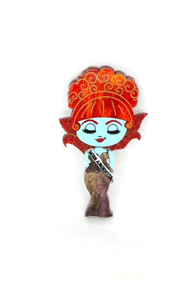 Beetlejuice Miss Argentina Brooch by Daisy Jean Florals