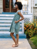 Teal and Orange Nashville Dress by Mata Traders
