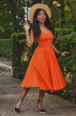 Peggy Dress in Pumpkin by Tatyana