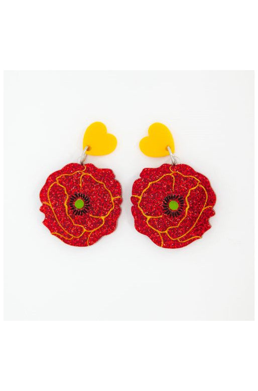Wizard of Oz Poppy Earrings by Daisy Jean Florals