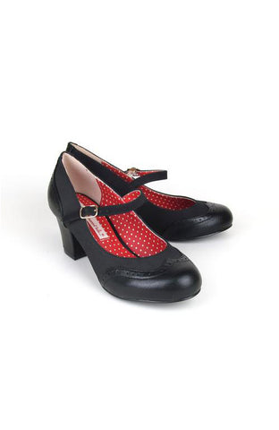 Regina Black Mary Jane Shoes by B.A.I.T.