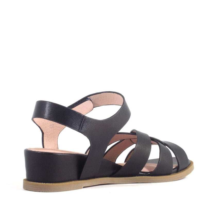 Black Roma Sandal by Chelsea Crew