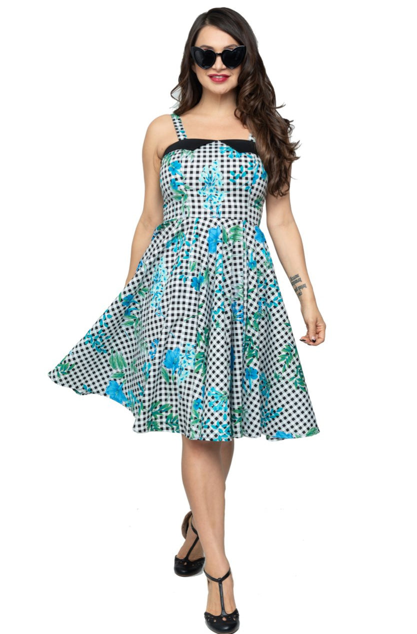 Picnic in Paradise Swing Dress by Steady Clothing
