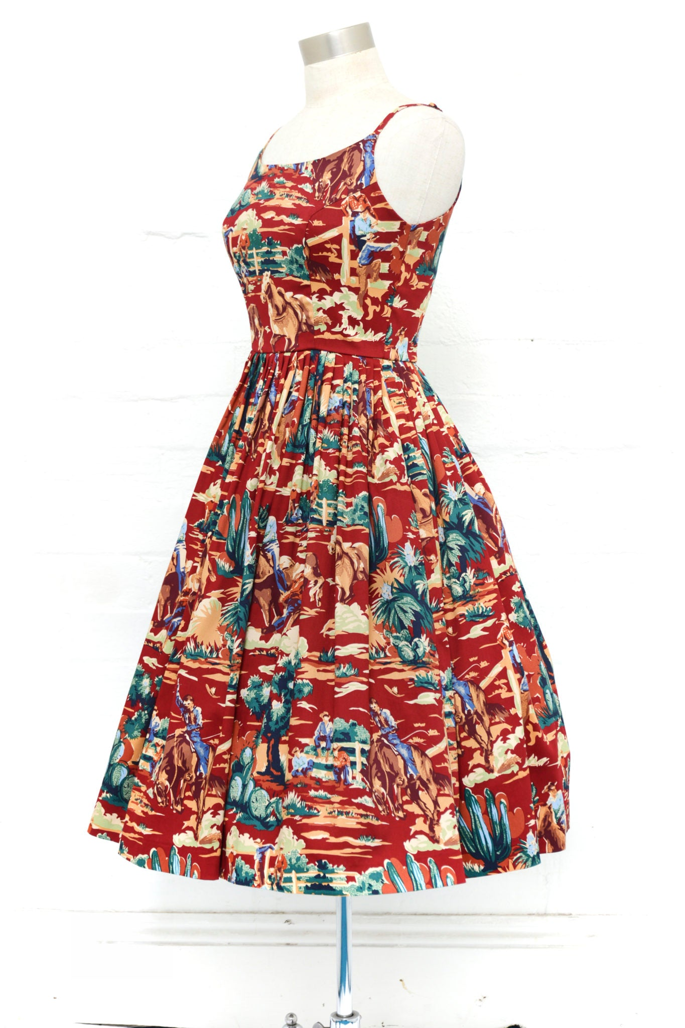 Gigi Dress in Wild West Print by Retrospec'd
