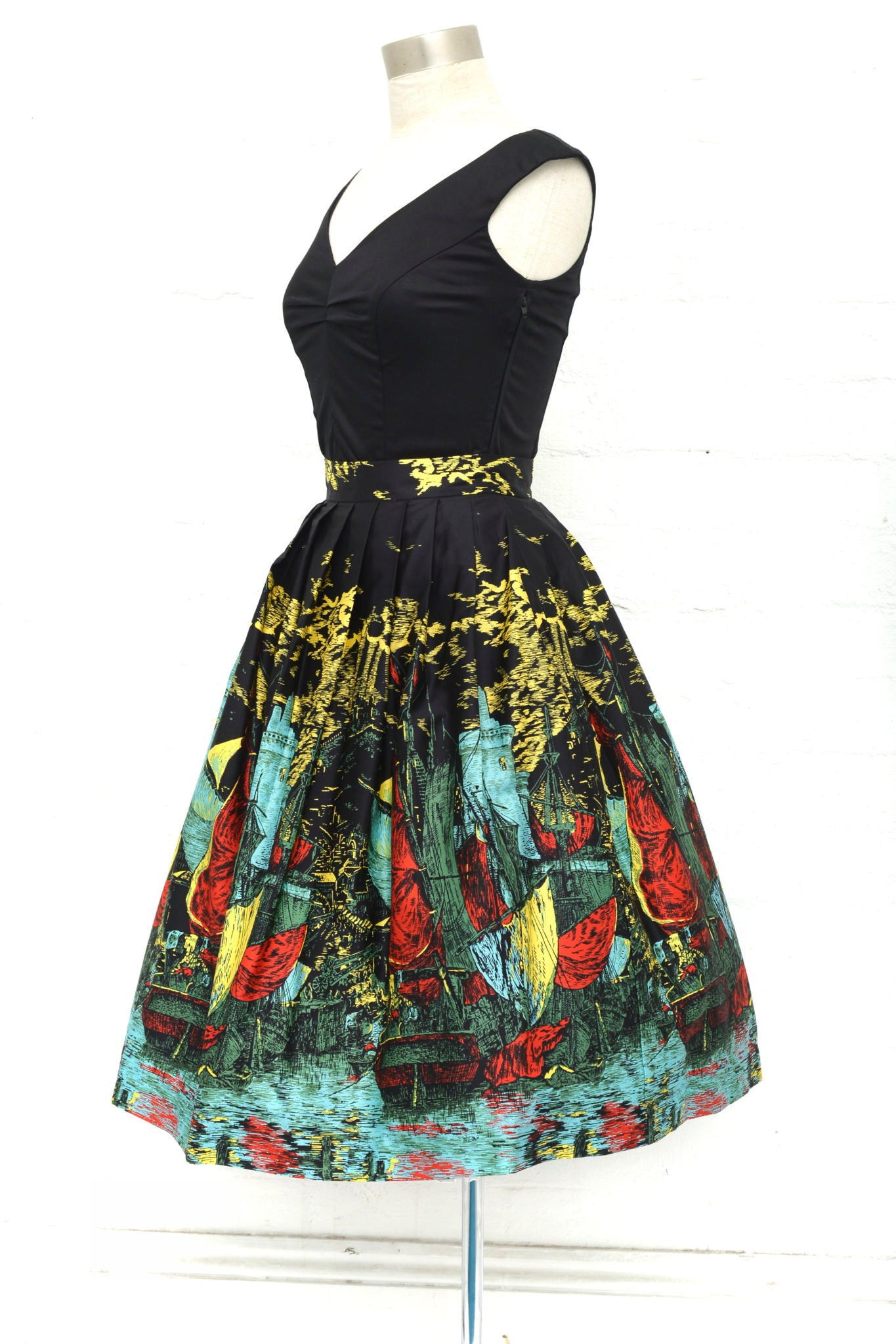 Corina Skirt in Castle Cove by Retrospec'd