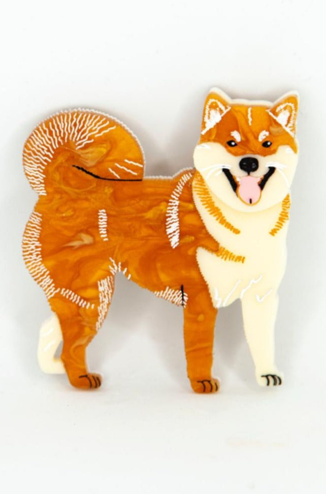 Sachi the Shiba Inu Brooch by Daisy Jean Florals