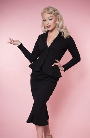 Black Diva Jacket by Heart of Haute