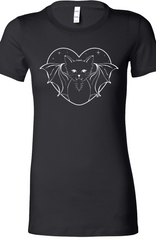 Bat Cat Tee in Black by Kittees