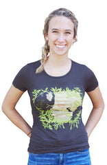 Brown Jane Goodall Tee by Blue Platypus