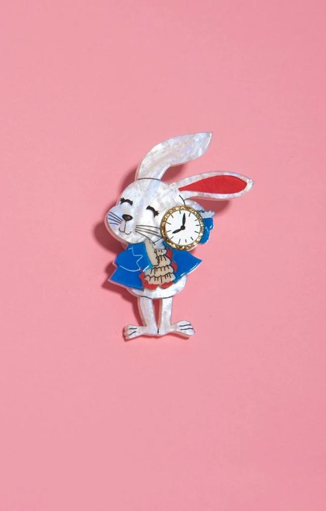 White Rabbit Brooch by Daisy Jean