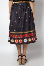 Final Sale Charlotte Border Print Full Skirt by Voodoo Vixen