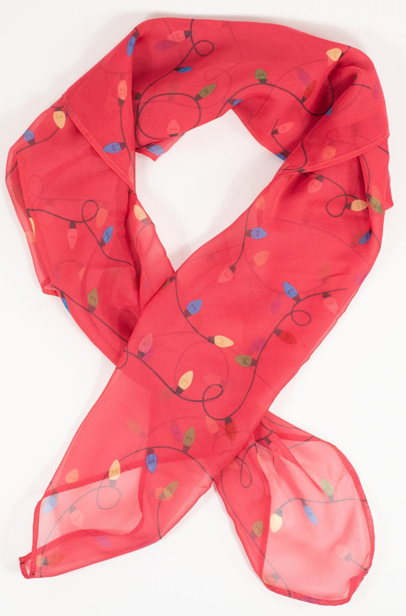 Christmas Lights Scarf in Bright Pink