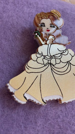 Belle Brooch of Beauty and the Beast by Daisy Jean Florals