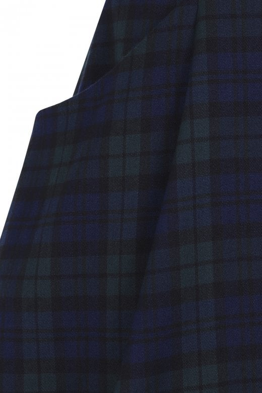 Navy Plaid Alexa Suspender Skirt by Collectif