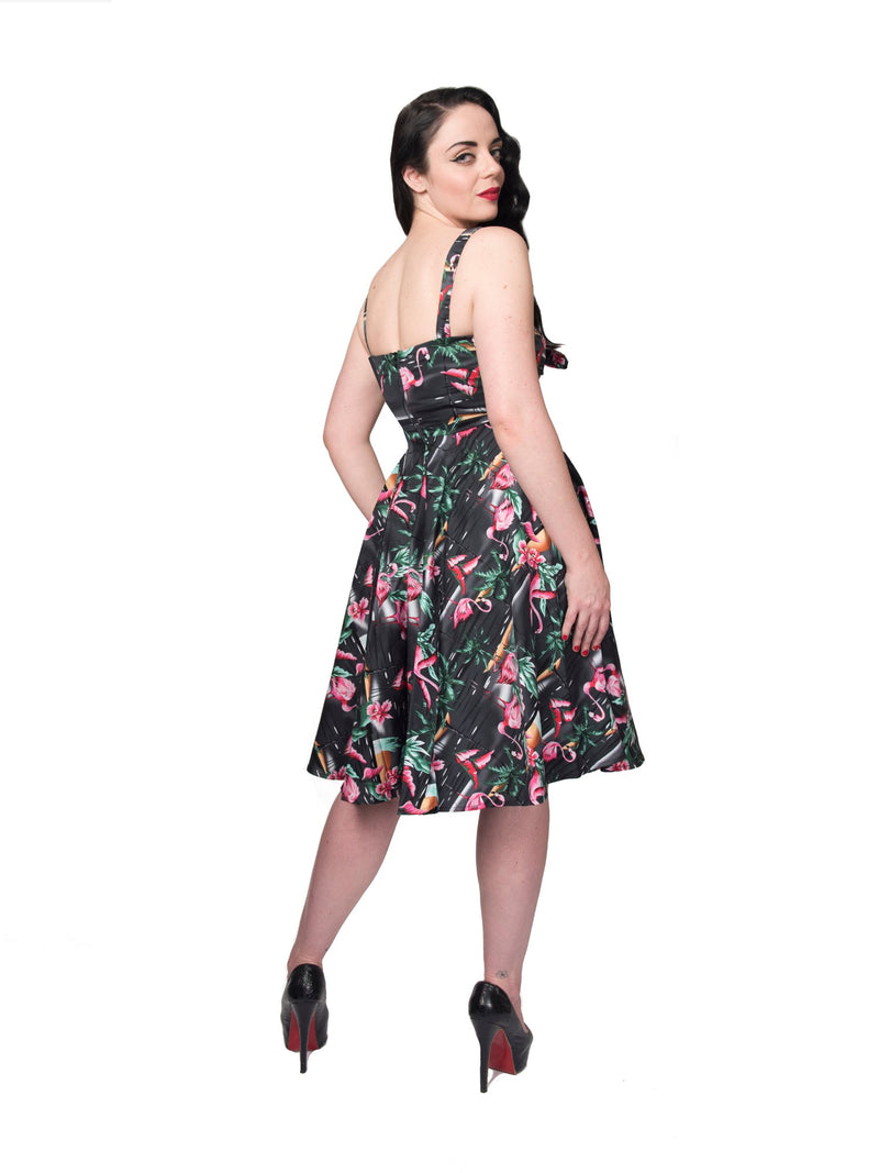 All Tied Up Dress in Flamingo by Rebel Love