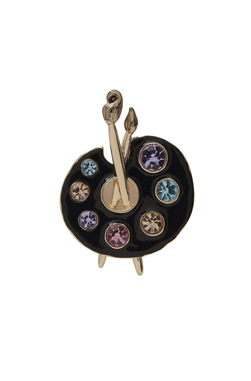 Artist Palette Brooch by Collectif