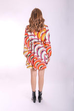 Slice of Happiness Long Sleeve Mini Dress by Traffic People