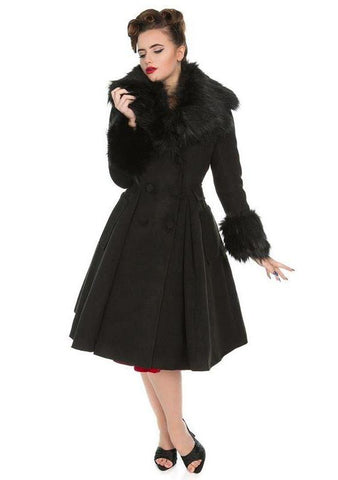 Fiona Coat in Black by Hearts & Roses