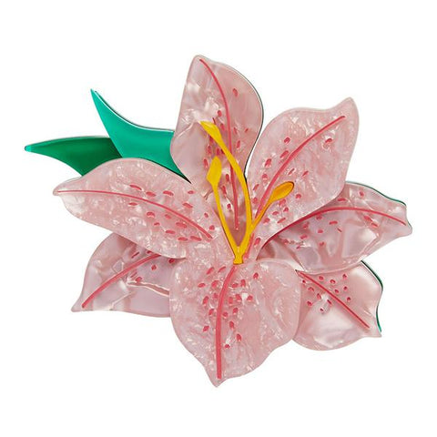 Frilly Lily Frond Brooch by Erstwilder