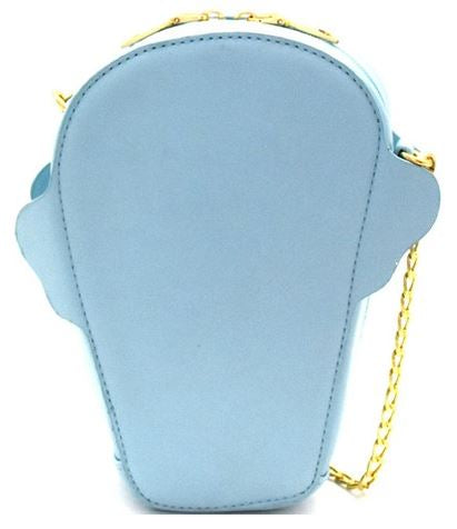 Blue Glitter Ice Cream Cone Crossbody Bag