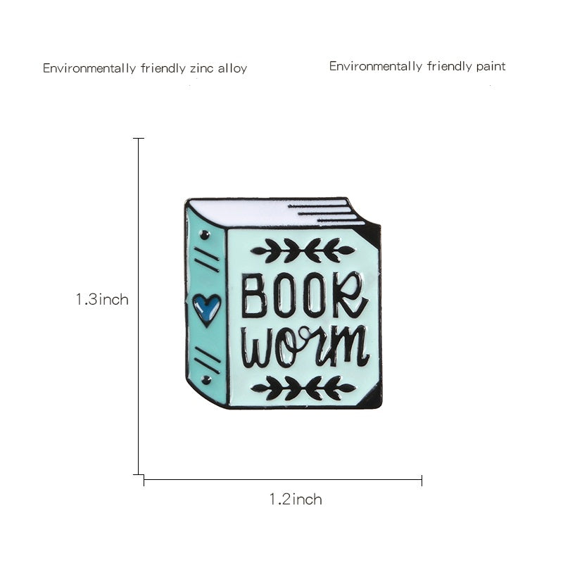 Book Worm Enamel Pin