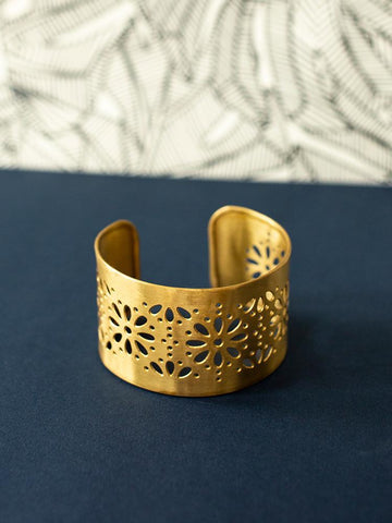 Marguerite Bracelet Cuff by Mata Traders