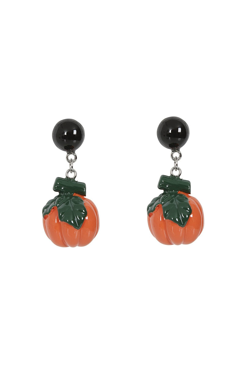 Esme Pumpkin Earrings by Collectif