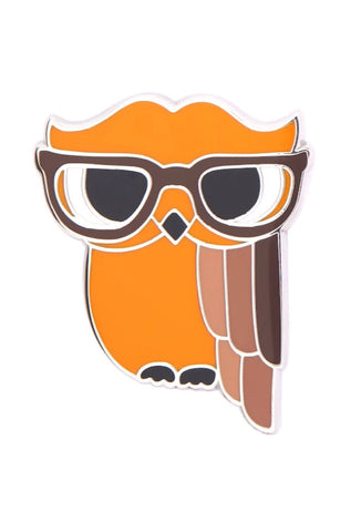 Waldo the Wacky Wise Owl Enamel Pin by Erstwilder
