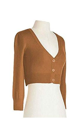 Camel Perfect Cropped Cardigan