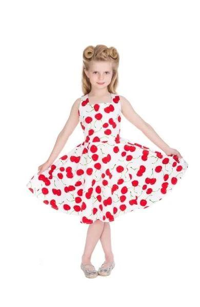 Hearts & Roses White Cherry Kids Dress