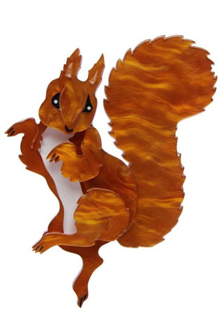 Squirrel Nutkin Brooch by Erstwilder