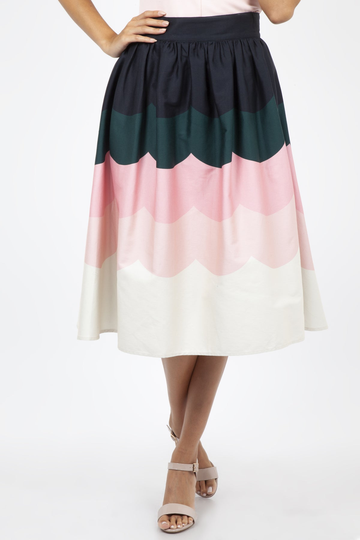 Sofia Scalloped Full Skirt by Voodoo Vixen