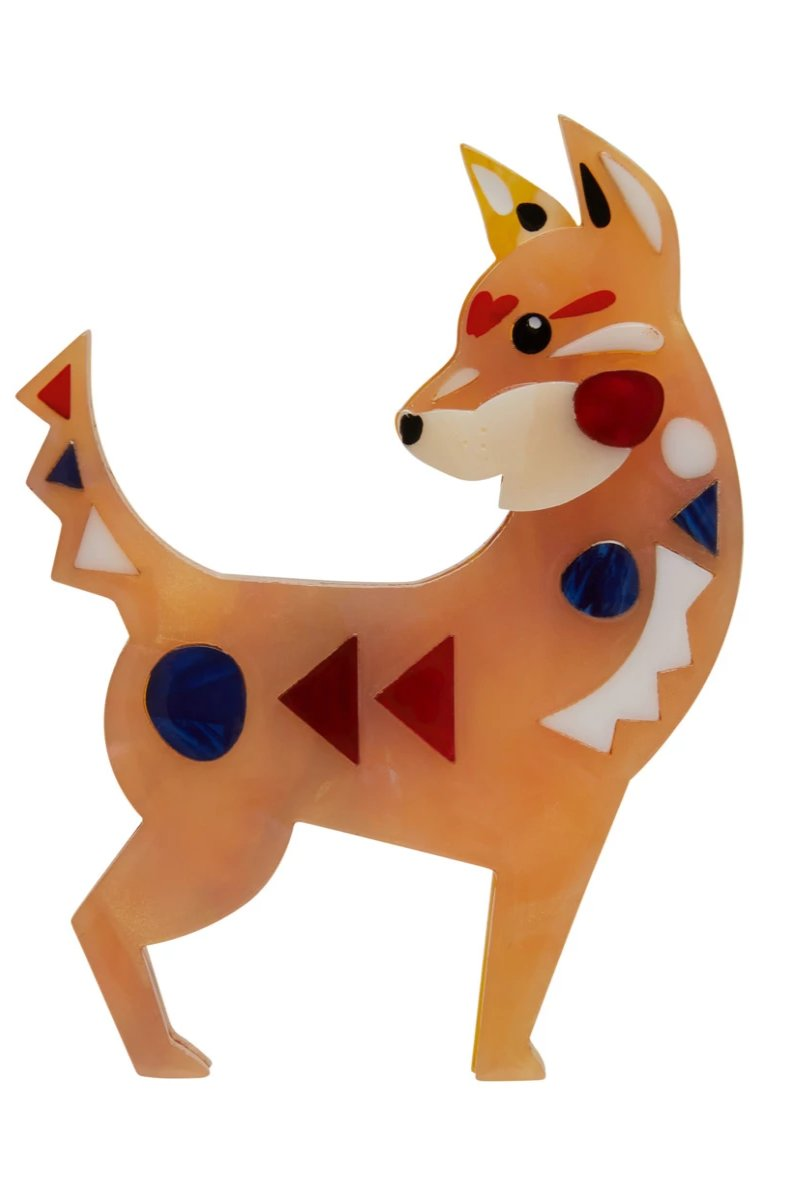 The Dapper Dingo Brooch by Erstwilder