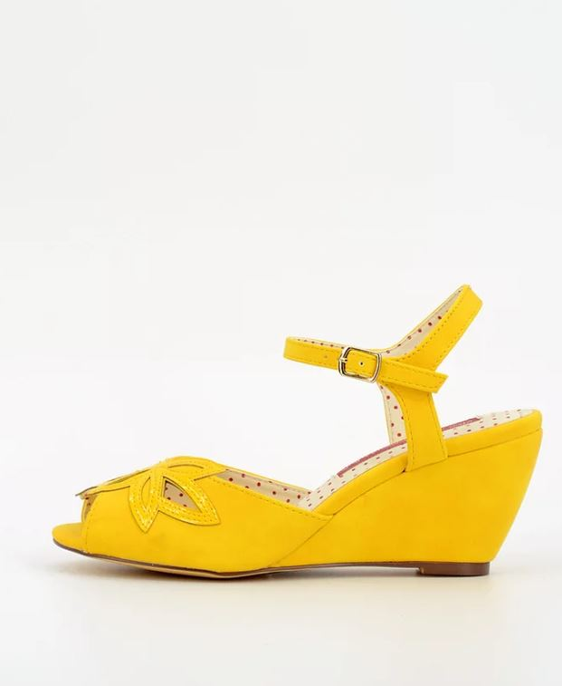 Daisy Wedge Shoes in Yellow by BAIT Footwear