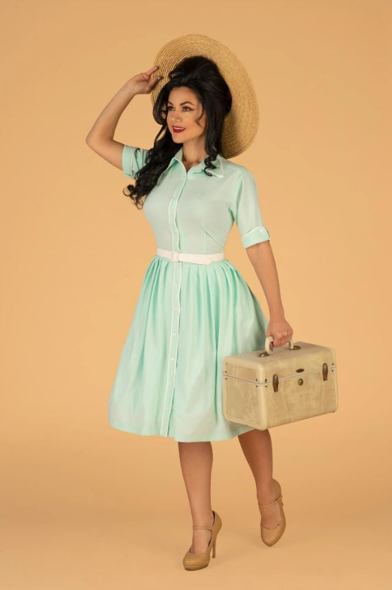 Day Dress in Sky Blue by Tatyana