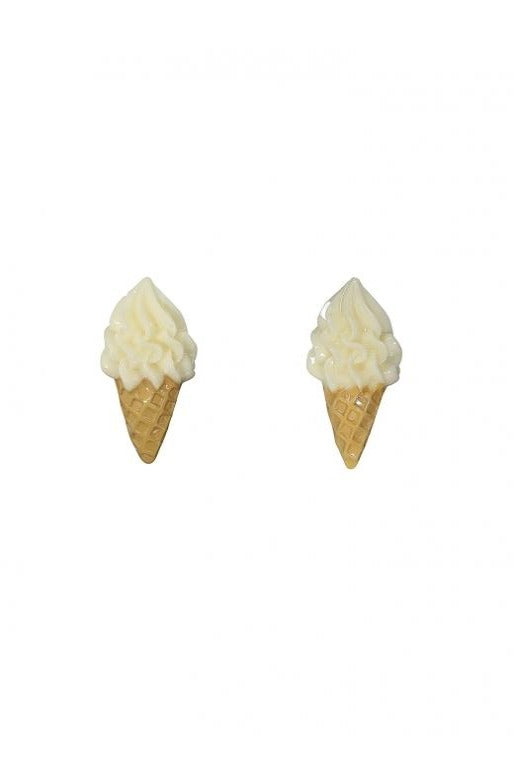 Ice Cream Cone Stud Earrings by Collectif
