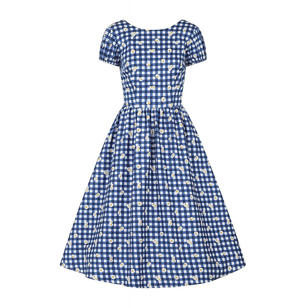 Demira Gingham Daisy Swing Dress by Collectif
