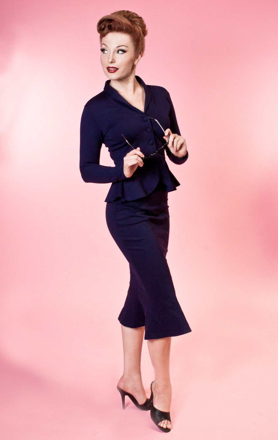 Navy Diva Jacket by Heart of Haute
