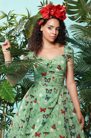 Delores Butterfly Doll Dress by Collectif