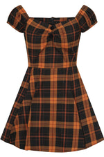 Delores Pumpkin Check Mini Dress by Collectif