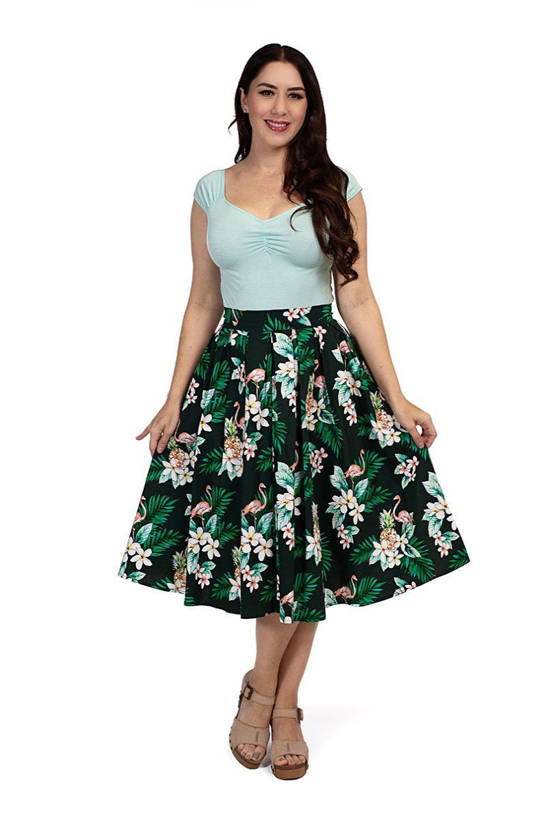 Doris Skirt in Flamingo by Retrolicious