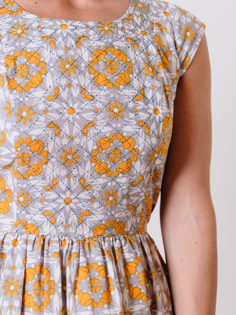 Yellow Tile Chilmark Dress by Mata Traders
