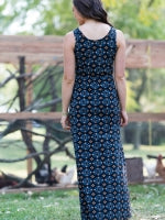 Black Mosaic Anais Maxi Dress by Mata Traders