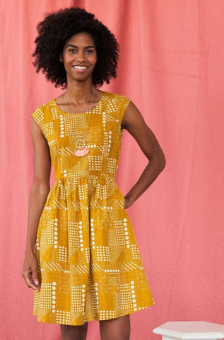 Chilmark Dress in Gold by Mata Traders