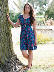 Farmers Market Dress in Persimmon by Mata Traders