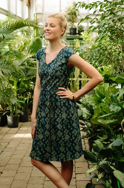 Blue Diamond Nashville Dress by Mata Traders