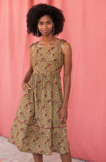 Provence Midi Dress in Turmeric by Mata Traders