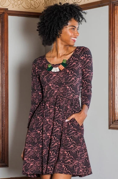 Rosalie Dress in Alpine by Mata Traders