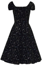 Delores Starburst Velvet Dress by Collectif