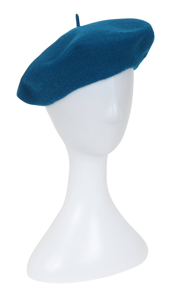 Sapphire Blue Beret by Collectif